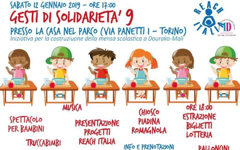 Torino – 12 gennaio – Gesti di solidarietà e lotteria con Reach Italia